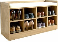 Kempton Shoe Bench - Hallway Shoe Storage Unit
