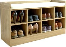 Kempton Shoe Bench - Oak