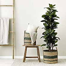 Kenay Home Jung Basket, Green, 34 x 34 x 34 cm
