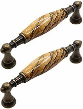 Kenfun Bow Shape Knobs 2 Pieces Marble Ceramic