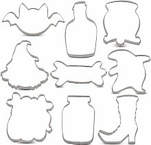 KENIAO Halloween Cookie Cutter Set - 9 Piece -