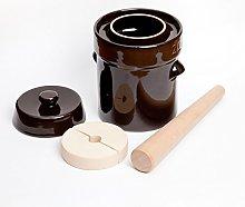Kenley Fermentation Crock Jar 2 Liter - Stoneware