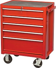 Kennedy-Pro Red 5-Drawer Professional Roller