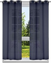 Kensie Thin Metallic Stripes Window Curtain Set,