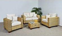Kensington 2 Seat Wicker Sofa Set in Oatmeal