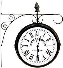 Kensington London Station Clock Dual Face For
