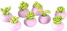 Kentop 2pcs Mini Artificial Flowers Succulent