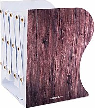 Kentop Bookends Wood Grain Metal Extendable