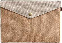 Kentop Document Case with Snap Button Linen and
