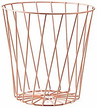 Kentop Waste Paper Basket Hollow Iron Storage