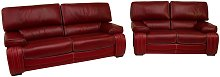 Kentucky 3 Seater + 2 Seater Genuine Italian Red