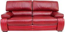 Kentucky 3 Seater Genuine Italian Red Leather Sofa