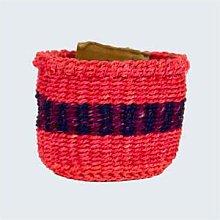 Kenya - Kenyan Sisal Basket Grace Bright Pink With