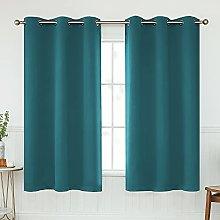 KEQIAOSUOCAI Teal Room Darkening Curtain 54 Inch