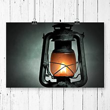 Kerosene Lamp Photographic Print Big Box Art