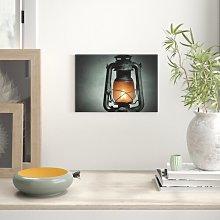 Kerosene Lamp Photographic Print on Canvas East