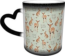 KEROTA Coffee Mugs Woodland Animal Affirmations in