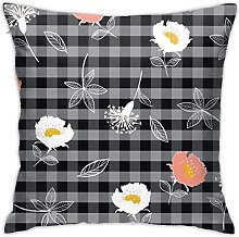 KEROTA Flowers with Black and Grey Check