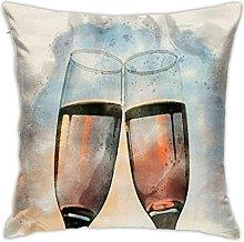 KEROTA Two Glasses with Wine Decorative Throw