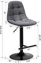 kerryshop bar chair Bar Stools with Linen Backrest