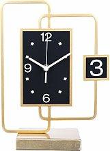 kerryshop Table Clocks Metal Frame Table Clock Now