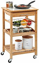 Kesper 25776 13 Bamboo Kitchen Trolley Dimensions