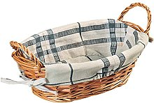 Kesper Bread Basket Oval of Willow, Brown, 32 x 23