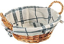 Kesper Bread Basket Round of Willow, Brown, 27 x