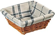 Kesper Bread Basket Square of Willow, Brown, 26 x