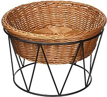 Kesper Bread Basket with Stand, Willow, Brown, 26