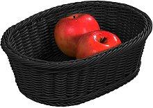 Kesper Bread & Fruit Basket square in black, 32.5