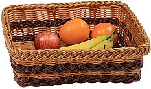 Kesper Fruit/Bread Basket 35x31x11,5cm in brown,