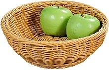 Kesper Fruit/Bread Basket, Plastic, Brown, 24cm