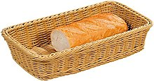 Kesper Fruit/Bread Basket, Plastic, Brown,