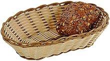 Kesper Oval Bread Basket, Plastic, Brown