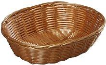 Kesper Oval Mesh Bread Basket, Plastic, Brown, 21
