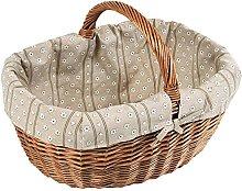 Kesper Shopping Basket with Textile 46x34x20cm of