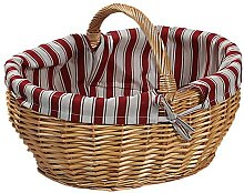 Kesper Shopping Basket with Textile Lining,