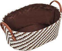 Kesper Storage basket oval small in brown, Paper