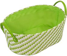 Kesper Storage basket oval small in green, Paper
