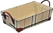 Kesper Storage basket tall in brown checkered,