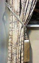 Kestral 2 x Tie Backs Curtain - Amber, Tassel