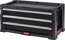 Keter | 3 Drawer Cabinet Module, Black, 56.2 x