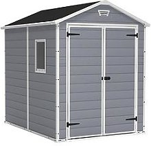 Keter 6X8 Ft Apex Manor Resin Garden Shed