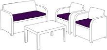 Keter Allibert Carolina Garden Sofa Cushion Sol 72