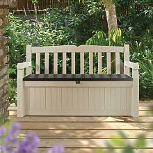 Keter Eden Garden Bench Storage Deck Box 265 L