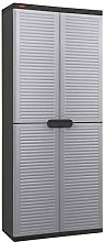 Keter Garden Utility Cabinet 4 Shelves Light Grey