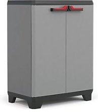 KETER Low cabinet Stilo, EPACK, Gray / Black / Red