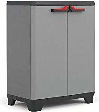 KETER Low cabinet Stilo, EPACK, Gray / Black / Red