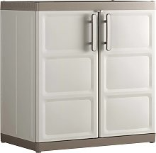 Keter Low Storage Cabinet Excellence XL Beige and